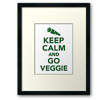 Keep calm and go veggie Framed Print