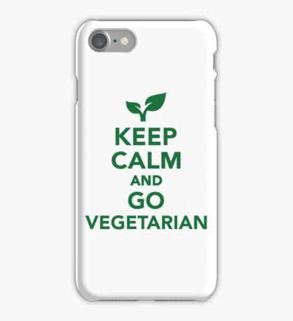 Keep calm and go vegetarian iPhone Case/Skin