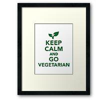 Keep calm and go vegetarian Framed Print
