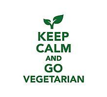 Keep calm and go vegetarian Photographic Print