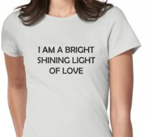 Bright Shining Light Womens Fitted T-Shirt