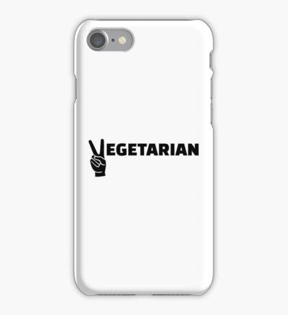 Vegetarian peace iPhone Case/Skin