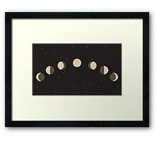 The Moon Phases (Fases da Lua). Pixel-Art Framed Print