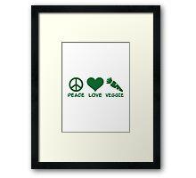 Peace love veggie Framed Print