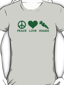 Peace love veggie T-Shirt