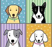 Four Dogs Square by dreamingdogs