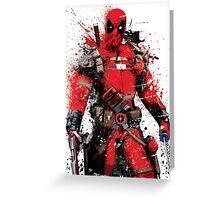 """Deadpool"" Splatter Art Greeting Card"
