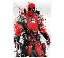 """Deadpool"" Splatter Art Poster"