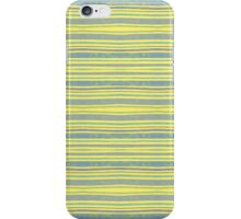 blue stripes on yellow iPhone Case/Skin
