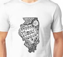 Hipster Illinois Outline Unisex T-Shirt