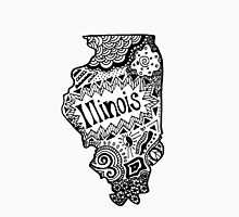 Hipster Illinois Outline Unisex T-Shirt