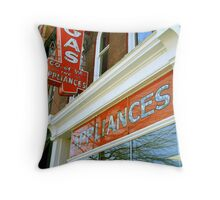 Richmond Old Storefront Throw Pillow