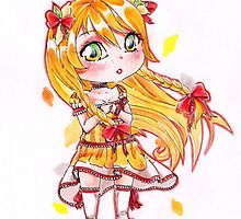 Chibi citrus lady cute girl by lavem