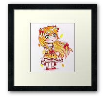 Chibi citrus lady cute girl Framed Print
