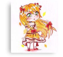 Chibi citrus lady cute girl Canvas Print