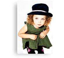 Addy in Green Dress Canvas Print