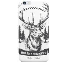 Big Sky Country Deer - Dark print iPhone Case/Skin