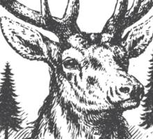 Big Sky Country Deer - Dark print Sticker