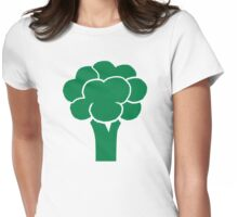 Green broccoli Womens Fitted T-Shirt