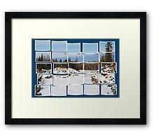 Winter Scene Divided Framed Print