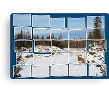 Winter Scene Divided Canvas Print