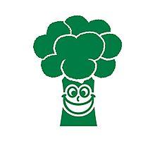 Funny broccoli face Photographic Print