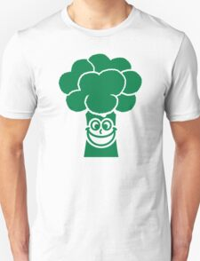 Funny broccoli face Unisex T-Shirt