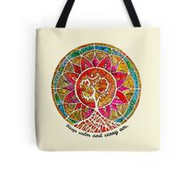 Carry Om Tree Of Life Mandala  Tote Bag