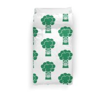 Funny broccoli face Duvet Cover