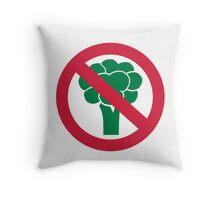 No broccoli Throw Pillow