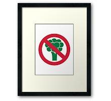 No broccoli Framed Print