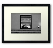 Reservation for One in B/W Framed Print