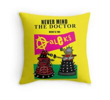 The Punk Daleks  Throw Pillow