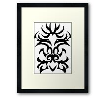 maori tattoo tribal design graphic Framed Print