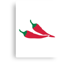 Red chilies Canvas Print