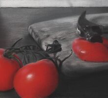 """Catchup"" - Charcoal and Pastel by Jeremy Lebediker"