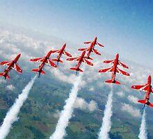 The Red Arrows - Raf Display Team painting / digital art by verypeculiar