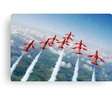The Red Arrows - Raf Display Team painting / digital art Canvas Print
