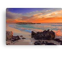 Trigg Beach At Sunset  Canvas Print