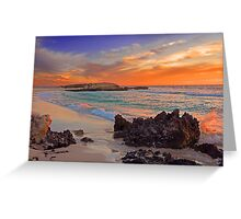Trigg Beach At Sunset  Greeting Card