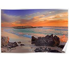Trigg Beach At Sunset  Poster