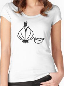 Garlic Women's Fitted Scoop T-Shirt