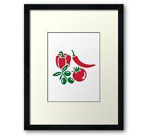 Vegetables tomato olive bell pepper chili Framed Print