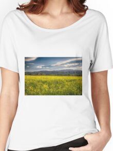 Blooming Yellow Mustard in Napa Valley Women's Relaxed Fit T-Shirt