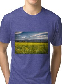 Blooming Yellow Mustard in Napa Valley Tri-blend T-Shirt