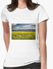 Blooming Yellow Mustard in Napa Valley Womens Fitted T-Shirt