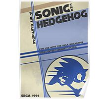 Megadrive - Sonic the Hedgehog Poster