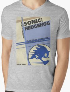 Megadrive - Sonic the Hedgehog Mens V-Neck T-Shirt