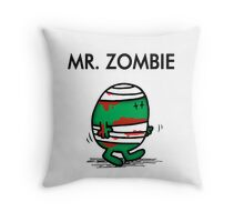 MR. ZOMBIE Throw Pillow