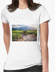 Little Shed in a Vineyard Womens Fitted T-Shirt